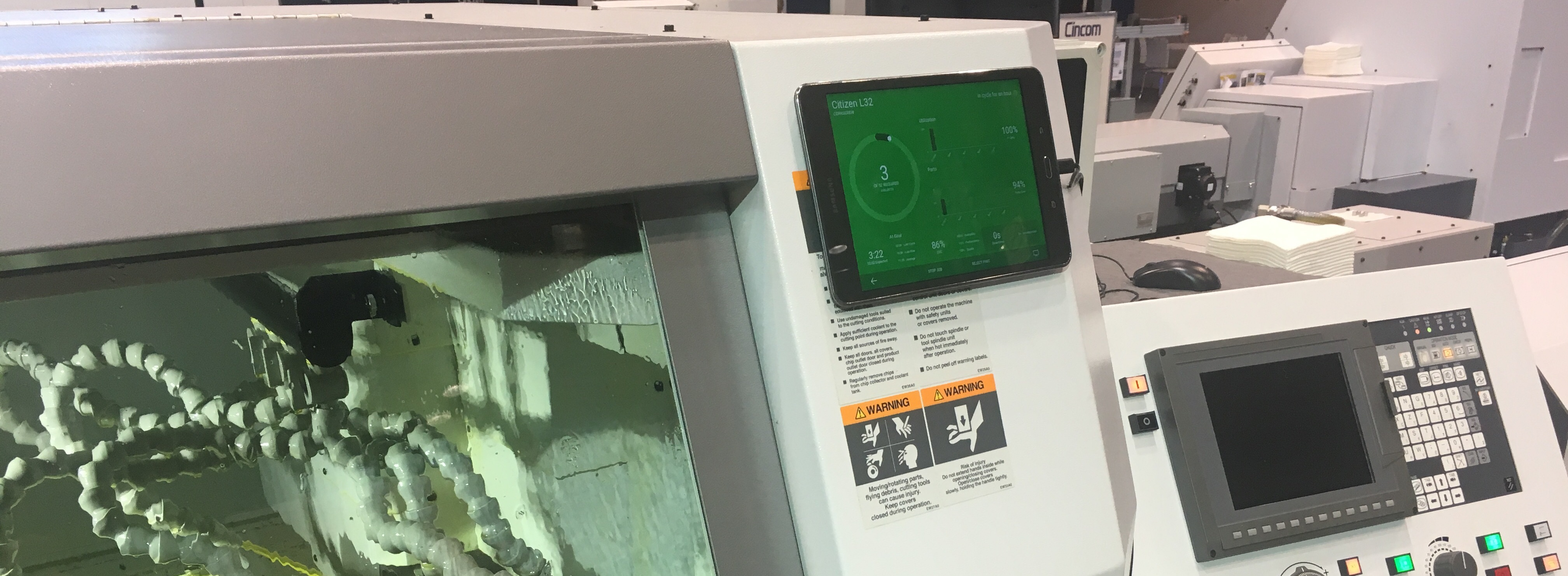 Swiss CNC Machine Monitoring | MachineMetrics