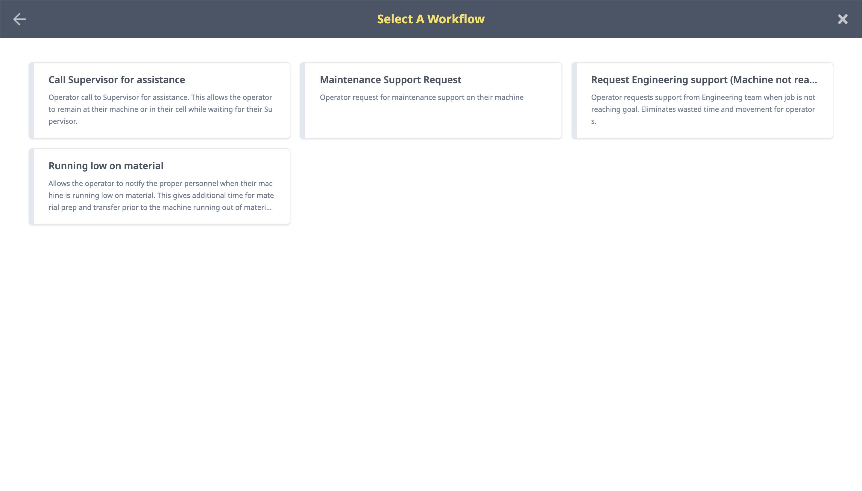 OpDash Workflows list