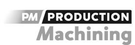 PM production machining logo gray