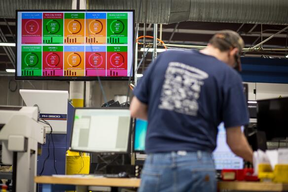 Manufacturing Shop Floor Real-Time Dashboard