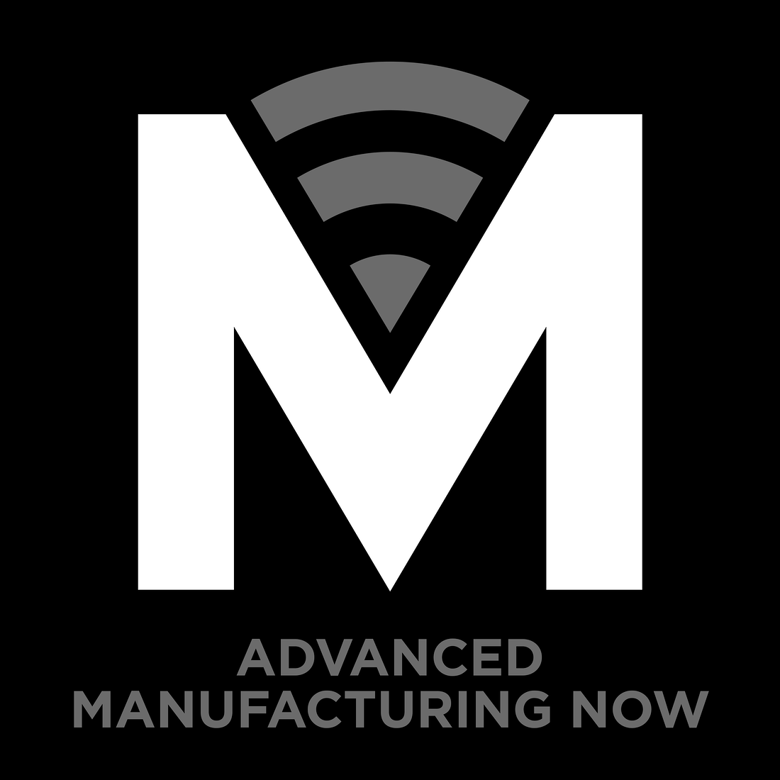 advanced manufacturing logo gray