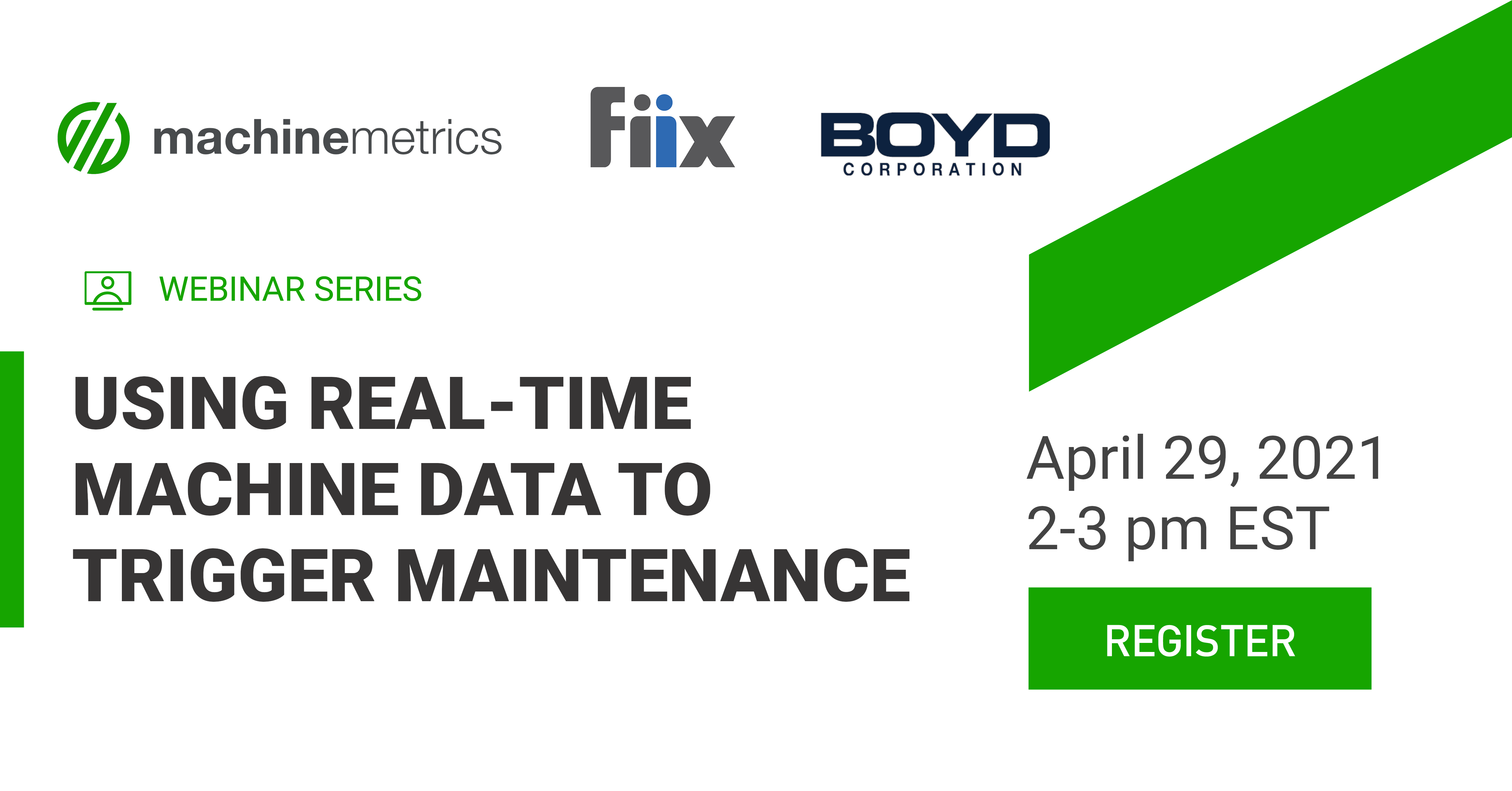 Using Real-Time Machine Data to Trigger Maintenance