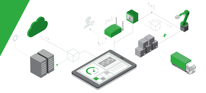 Connected Smart Factory Graphic.