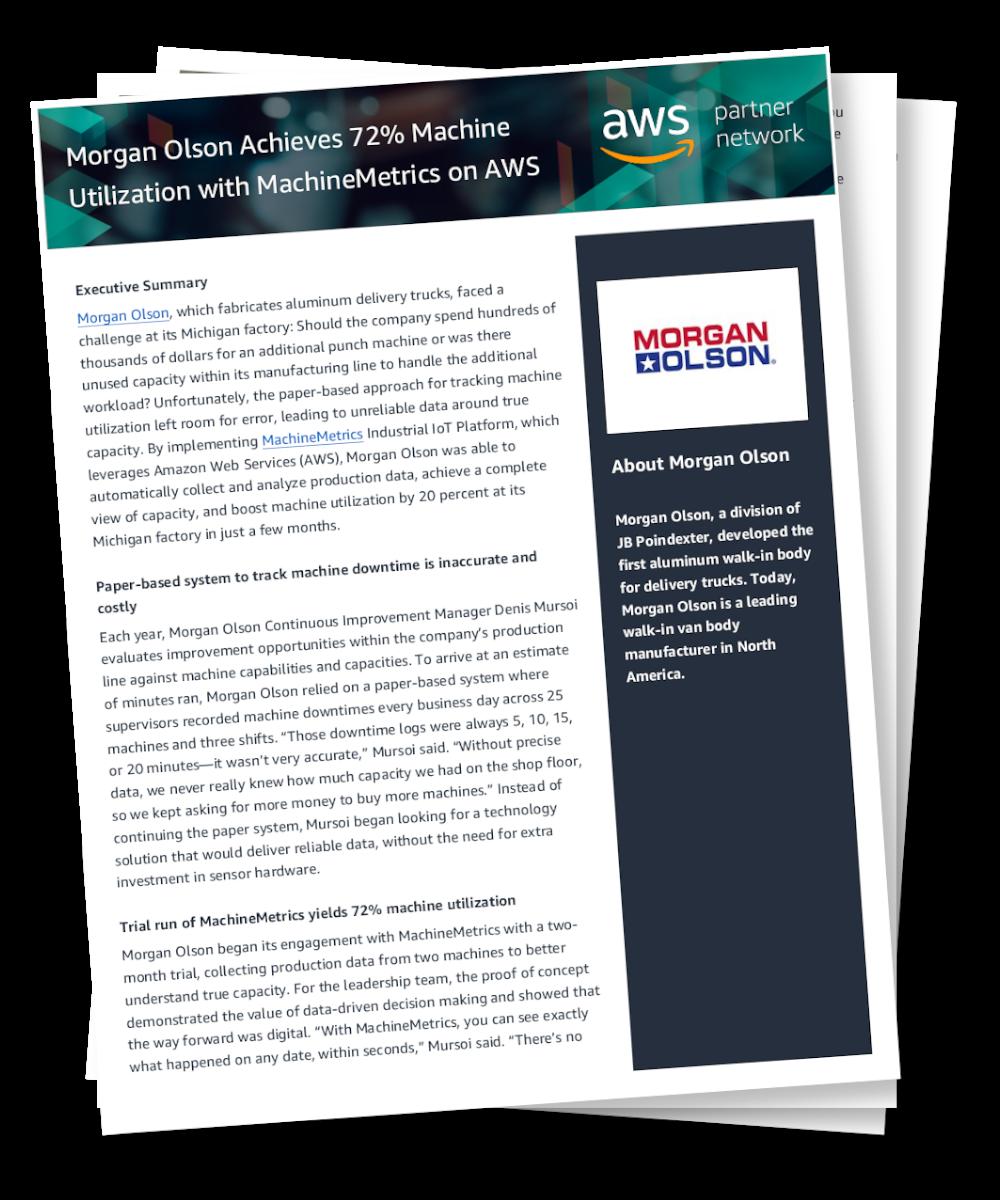 Morgan Olson Achieves 72% Machine Utilization with MachineMetrics