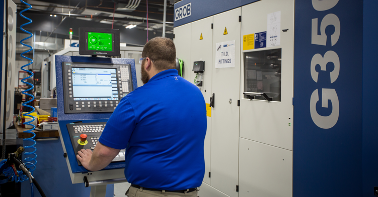 Technician at CNC Machine