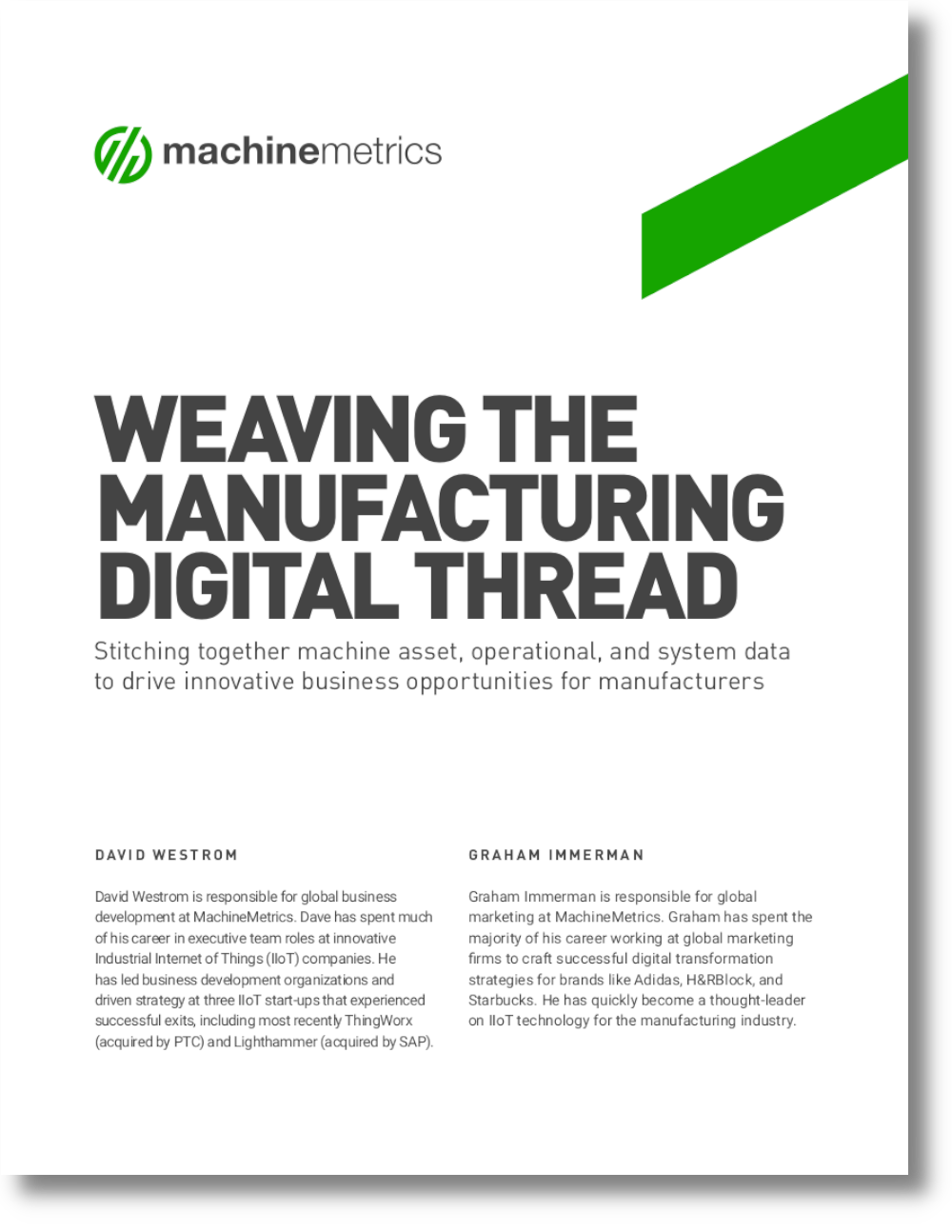 Weaving the Manufacturing Digital Thread White Paper