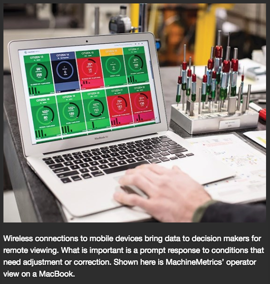 MachineMetrics Featured in Modern Machine Shop's latest Industry 4.0 Article